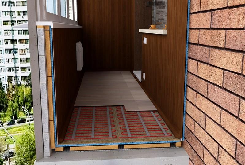 Теплый пол на балконе – это просто!
